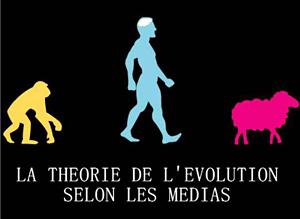 La théorie de l'évolution, singe - homme - mouton