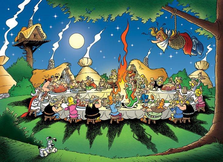 Astérix - Le banquet gaulois de FIN