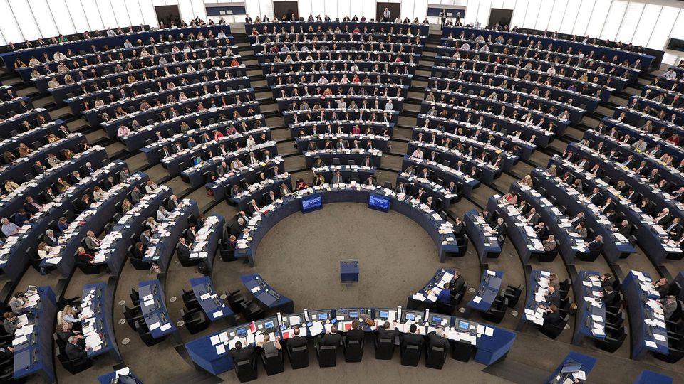 L'Hémicycle du parlement européen à Bruxelles
