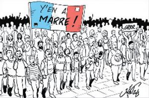 Français râleurs, grève, manifestation