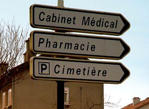 Panneaux, Cabinet Médical, Pharmacie, Cimetière