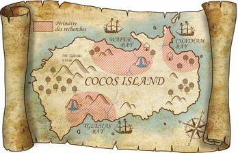 Carte de l'Île Cocos - Costa Rica