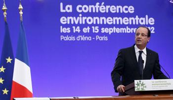 Conférence environnementale, François Hollande, 14 et 15 septembre 2012