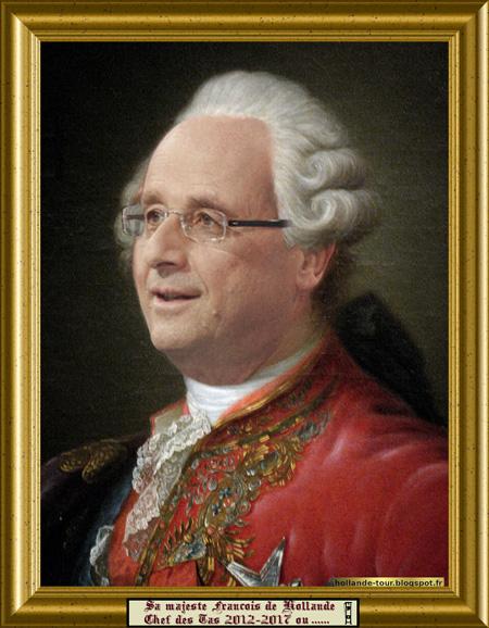 Tableau François Hollande en Louis XVI