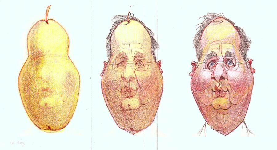 François Hollande - Tête de poire