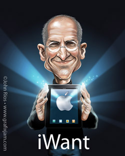 Steve Jobs et sa tablette iMachin