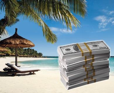 Costa Rica Paradis Fiscal - Liasse de billets de 100 $