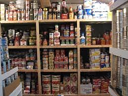 Crise économique - stockage de nourriture
