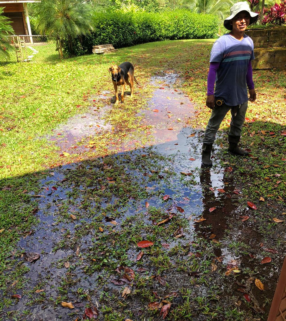 Finca - Grosse fuite d'eau à l'entrée - 2