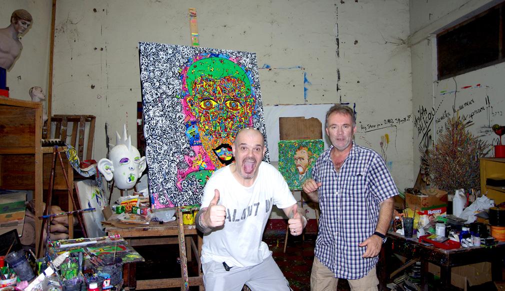 Jean-Marc Calvet et Stéphane (Costa Rica Immobilier) à Granada / Nicaragua - Octobre 2014