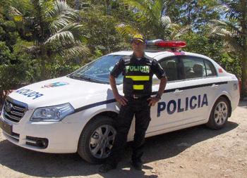 Costa Rica - véhicule de police