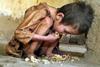 Enfant affamé à Gaza