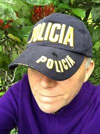 Stéphane, casquette Police Costa Rica - 23 janvier 2016
