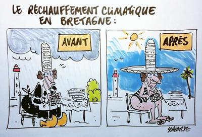 Le réchauffement climatique en Bretagne
