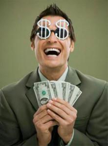 L'agent immobilier et l'argent - Légende