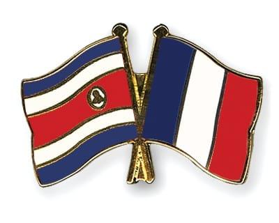 Drapeaux français et costaricien