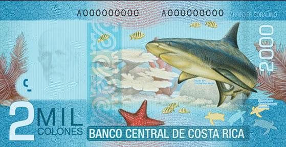 Billet de 2.000 CRC : écosystème récif de corail