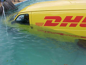 Accident camionnette DHL