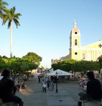Granada, Nicaragua, place centrale vers la Calzada