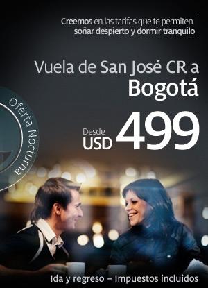 Promotion Taca - San Jose / Costa Rica - Bogota / Colombie