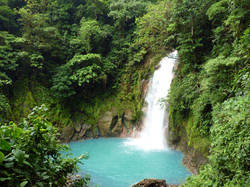 Cascade Rio Celeste, Parc national du Volcan Tenorio, Costa Rica