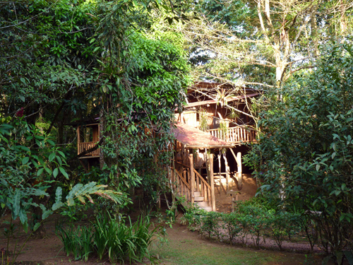 Lodge rustique, volcan Tenorio, Rio Celeste, Costa Rica