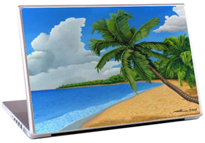 PC portable, plage, cocotiers ...