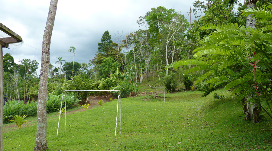 Ecolodge, Bijagua, près du Parc National Tenorio, terrain de football